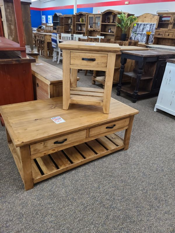 Rustic Coffee & End Table