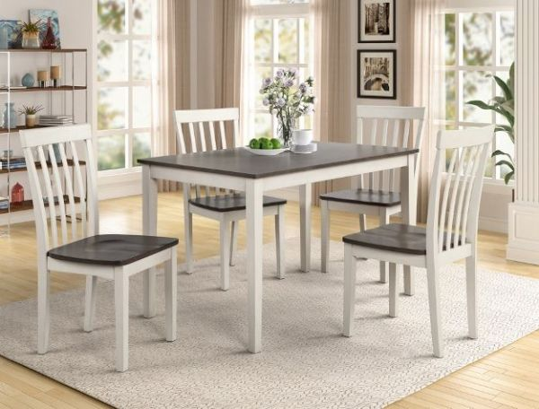 Brody Grey/White Dining Table