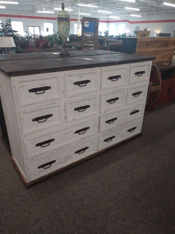 Rustic 12 Drawer Dresser