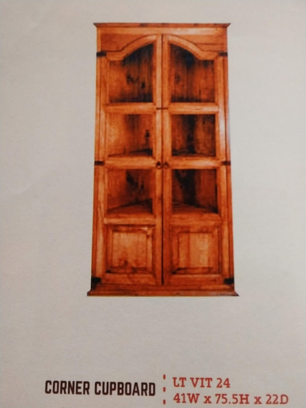 Rustic Corner Cupboard