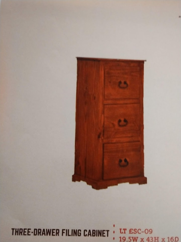 Rustic 3 Drawer File Cabinet