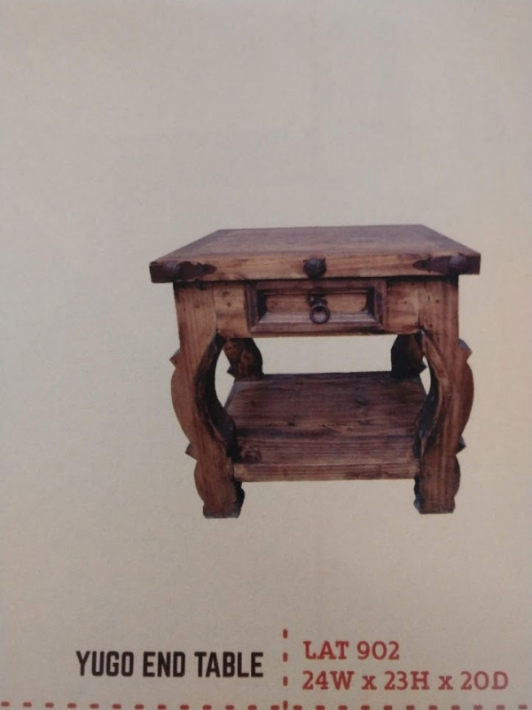 Rustic Yugo End Table