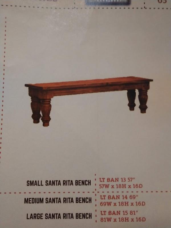 Rustic Santa Rita Bench