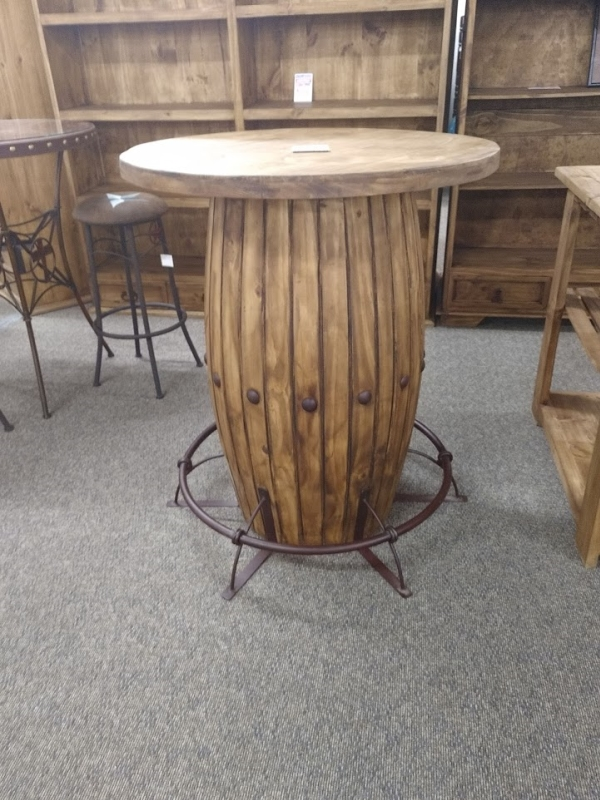 Rustic Barrel Pub Table