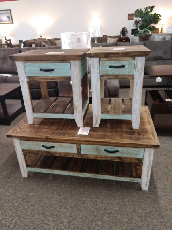 Rustic Cabana End & Coffee Table