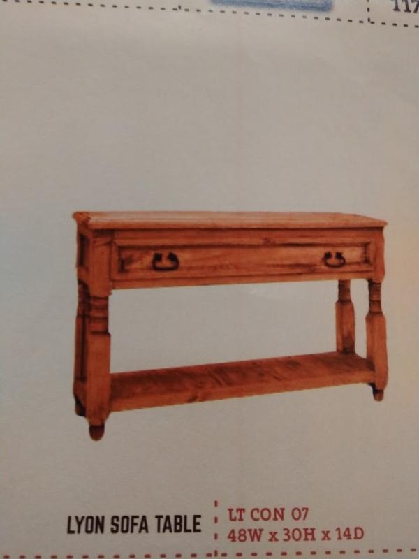 Rustic Lyon Sofa Table