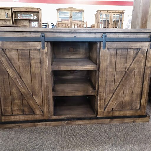 Rustic Barn Door TV Stand