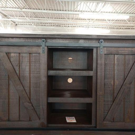 Rustic Barn Door TV Stand
