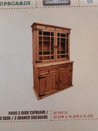 Rustic Paris Cupboard