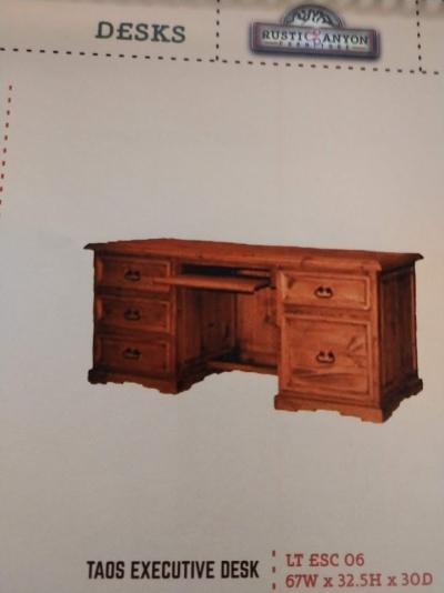 Rustic Taos Executive Desk