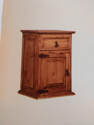 Rustic 1 Drawer/1 Door Nightstand