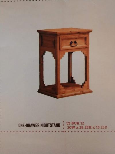 Rustic 1 Drawer Nightstand